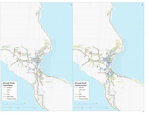 Borough Road Condition And Evaluation Map Haines Alaska